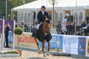 Thomas Kleis u. AFP´s Questa Vittoria (in Bad Segeberg 2014)